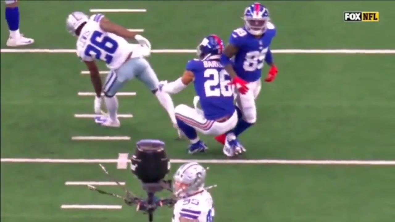 Giants RB Saquon Barkley (ankle), QB Daniel Jones (concussion ...