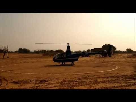 R44 takes off from 'Go Fly' Zone Helipad
