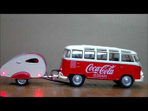 Coca-Cola bus and trailer