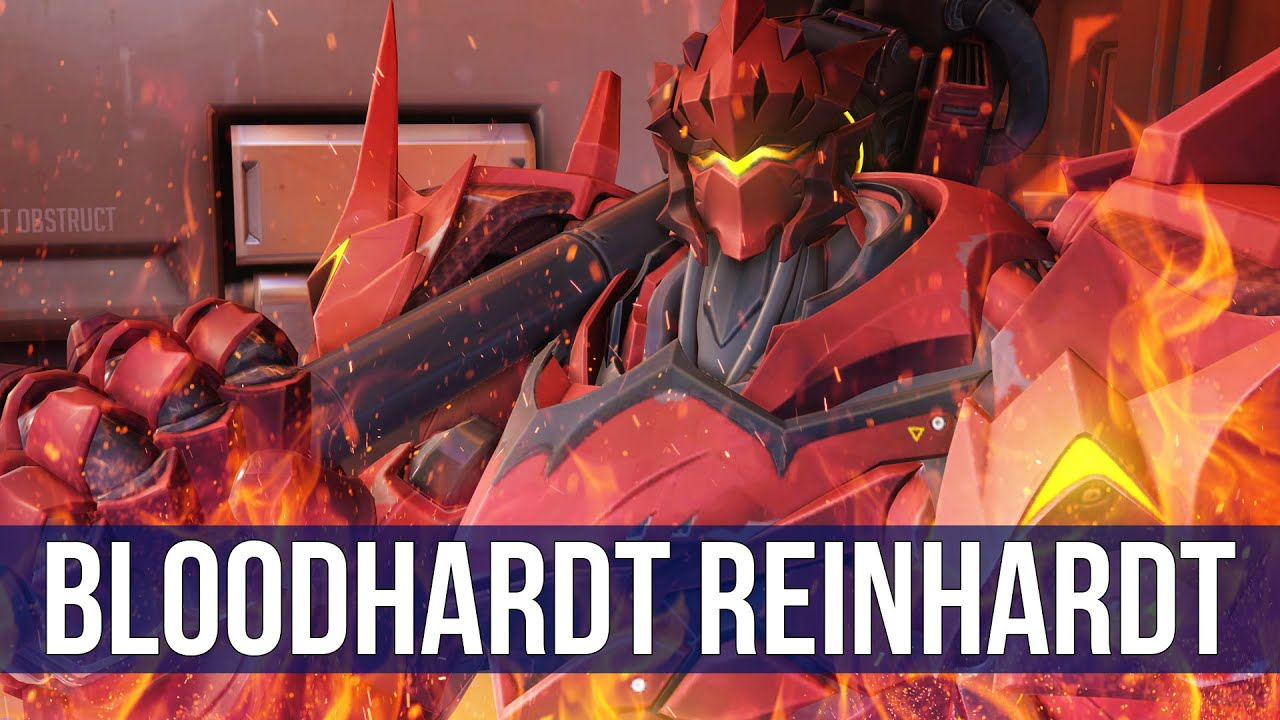 overwatch  bloodhardt reinhardt gameplay   overwatch quick match
