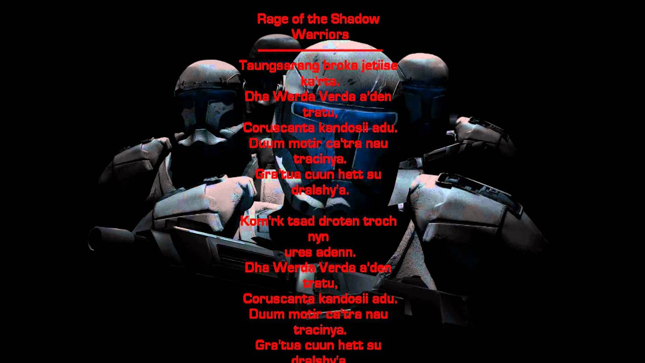 Gamers Quotes Wallpaper Star Wars Republic Commando Music Rage Of The Shadow