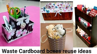 4 COOL CARDBOARD BOX REUSE IDEAS TO ORGANIZE YOUR HOME /4 COOL DIYs you can make with#cardboard box