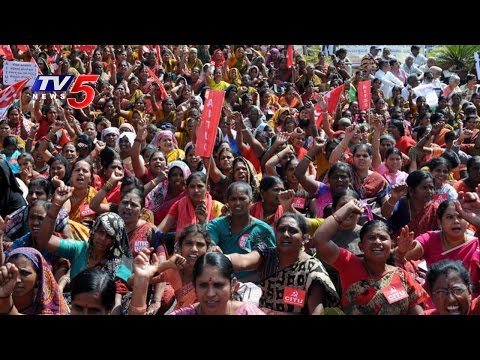 Anganwadi Workers Protest In Vijayawada | TV5 News