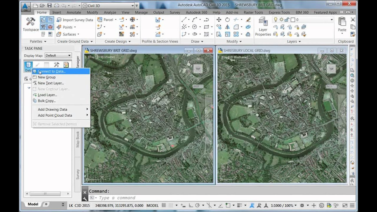 Using an InfraWorks 360 Model in local coordinate systems in AutoCAD     Using an InfraWorks 360 Model in local coordinate systems in AutoCAD Map 3D  and Civil 3D