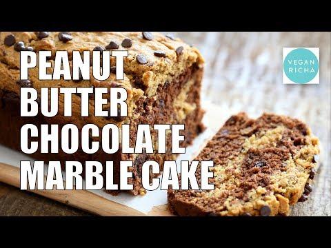 PEANUT BUTTER CHOCOLATE MARBLE CAKE | Vegan Richa Recipes