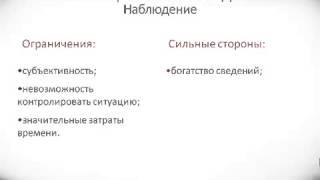 видео Методы психологии (краткий обзор)