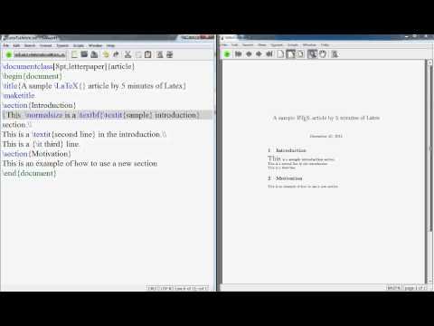 Latex Tutorial Text Formatting Bold Itlaic Subscript Superscript.avi