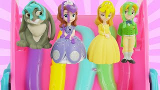 Princess Sofia The First Disney Jr Bath Paint Color Change Toys Best Learning Video Kid Learn Colors