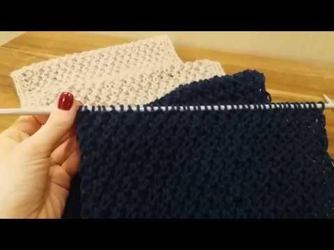 Вязание : шарф- снуд  (хомут) спицами.  Ажурная вязка.