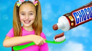 Sasha plays Edible Toys Challenge