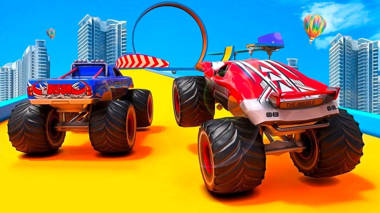 Juegos de Carros - Monster Truck Stunt - Carreras de Autos Monsters en La Ciudad