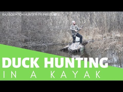 DUCK HUNTING IN A KAYAK!!!! -