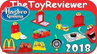 2018 Hasbro Gaming Happy Meal McDonalds COMPLETE SET 8 Unboxing Toy Review by TheToyReviewer