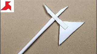 DIY - Как сделать АЛЕБАРДУ из бумаги а4 своими руками?