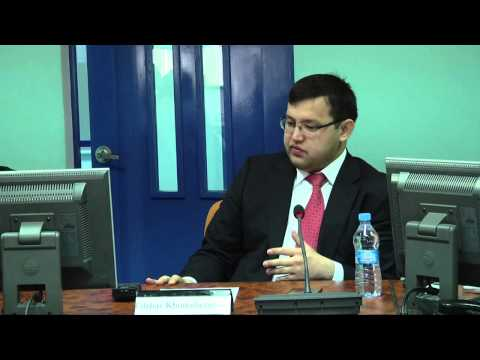 Kazakhstan Economy Roundtable of Experts - Part 2, Olzhas Khudaibergenov