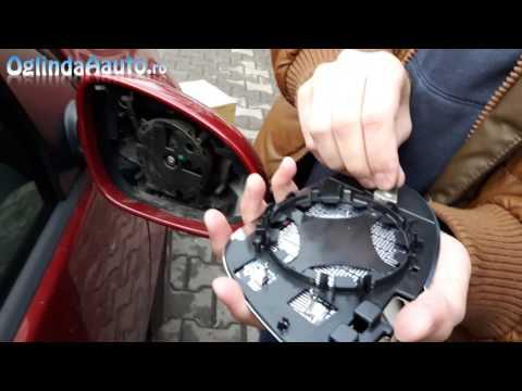 Schimba / Demontare Geam Oglinda Dreapta Cu Incalzire VW Golf 5
