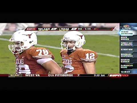 Texas Longhorns Vs Aggy 2008 Football Highlights From Espn Sports