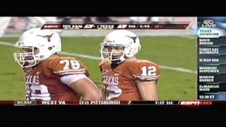 TEXAS LONGHORNS vs aggy 2008 Football Highlights (From ESPN Sports Center)