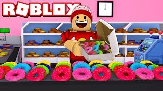 DOUGHNUT SIMULATOR on ROBLOX! Building My FACTORY!! → 🍩 Donut Simulator [Beta] 🎮