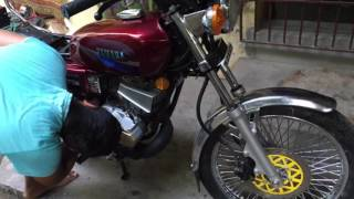 yamaha rx135 5speed fully restored with yamaha escorts spare parts osm condition