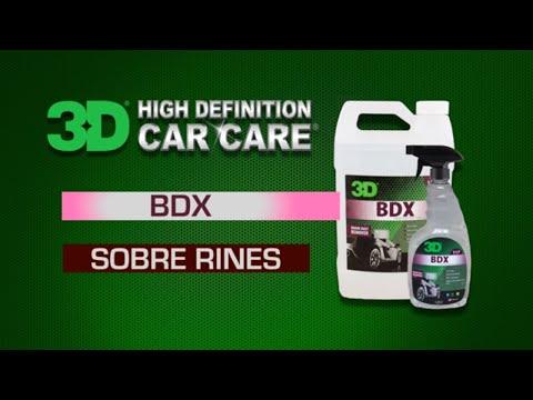 """3D BDX """"Brake Dust Remover"""" descontaminante de superficies pintadas y ruedas o rines."""