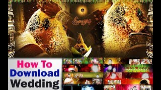 How To Download Wedding Psd Files - how to download wedding album psd files for free In Telugu 2017