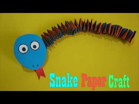 Instructions on how to fold a Snake with simple paper