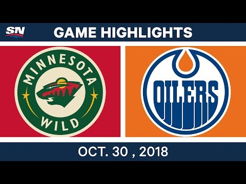 NHL Highlights | Wild vs. Oilers - Oct. 30, 2018