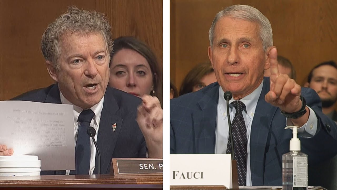 Dr. Fauci, Rand Paul call each other 'liars' during explosive hearing: full  video - YouTube