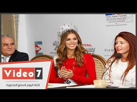 ملكة جمال الكون تغازل المصريين بالعربية : - تحيا مصر -