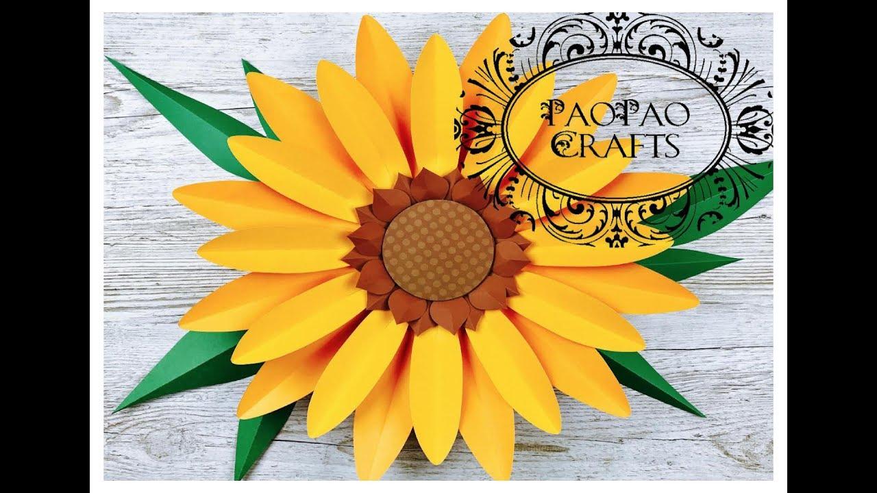 Girasol Gigante de papel | Moldes GRATIS | Flores de papel | Giant paper  Sunflower | Free Templates - YouTube
