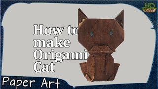 How to make Origami Cat | Easy Handmade Kid Toy Craft | Paper Art