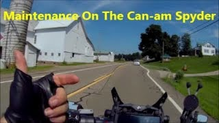 Talking Maintenance on the Can am spyder
