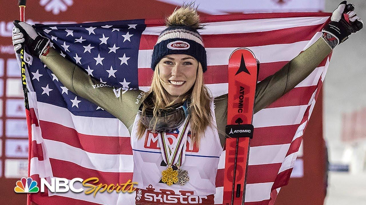 Witness Mikaela Shiffrin make history with fourth consecutive slalom title | NBC Sports