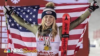 Witness Mikaela Shiffrin make history with fourth consecutive slalom title | NBC Sports