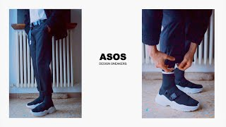 My First ASOS Design Sneakers | Sock Trainers Shoes | Unboxing Quick Review and Fitting
