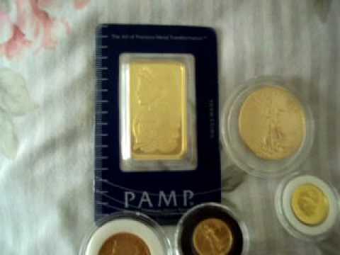 Gold Coins & Bar Precious Metals collection