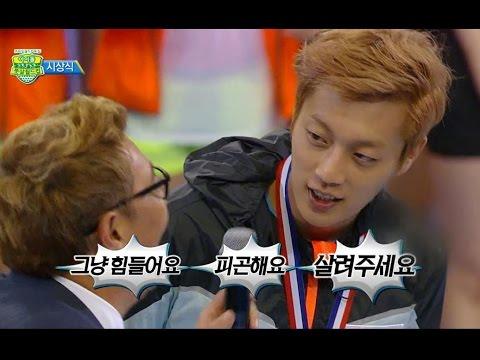 【TVPP】Doojoon(BEAST) - Cute Interview, 두준(비스트) - 은메달 소감 @ 2014 Idol Futsal Worldcup