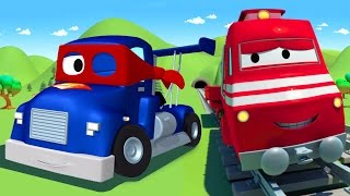 Troy The Train and Carl the Super Truck in Car City 🚆🚛 Cars & Trucks Cartoons for Children