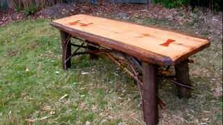 How to Make a Rustic Plank Table by Jim the Rustic Furniture Artist Part 49
