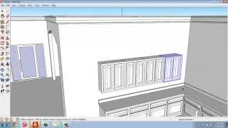 Sketchup #29 - Small House - Kitchen Upper Cabinets - Brooke Godfrey
