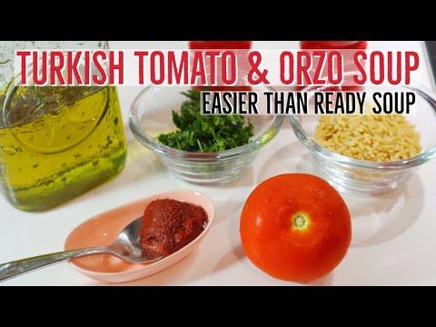 Turkish Tomato & Orzo Soup