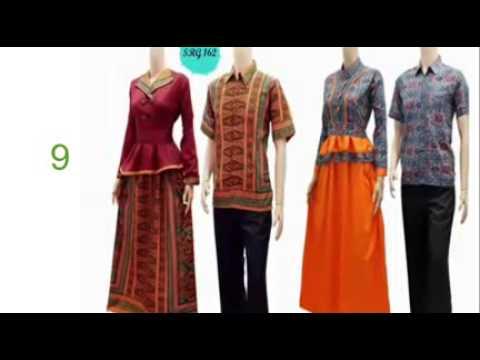 busana muslim pesta modern  model baju batik untuk wanita kurus