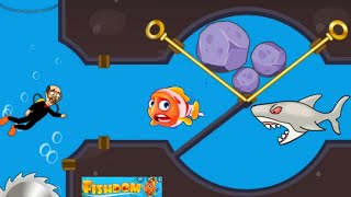 Save the fish gameplay android game /save the fish /Fishdom screenshot 1