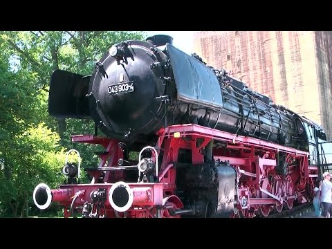 Germany '11 - East Friesland - Emden city center and main station with old steam locomotive
