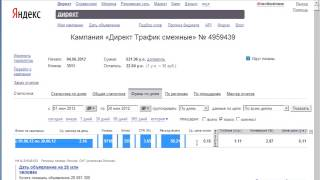 Урок 5.2 Яндекс Директ автоброкер раздел СТАТИСТИКА