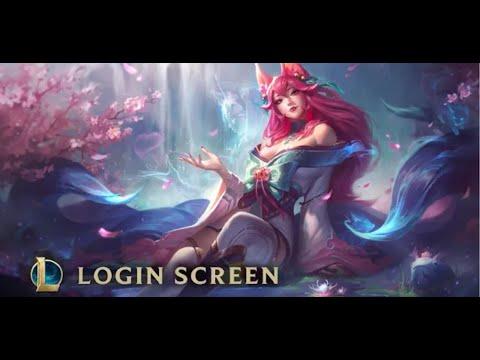 Spirit Blossom Ahri | Login Screen - League of Legends
