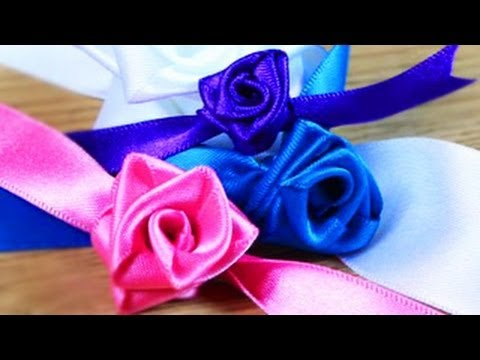 How to make christmas ribbon roses youtube for Cool things to do with roses
