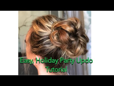 Easy Holiday Party Updo Tutorial Youtube