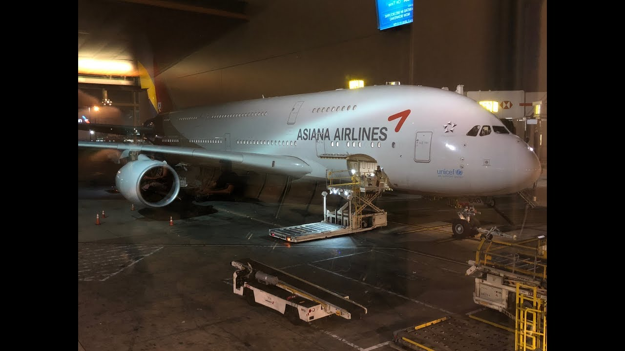 Asiana First Class Los Angeles to Seoul